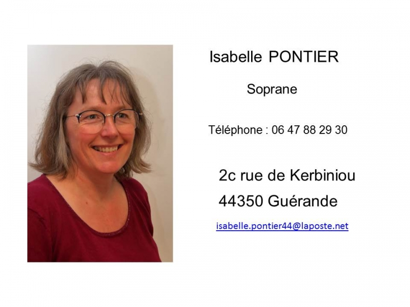 Isabelle Pontier